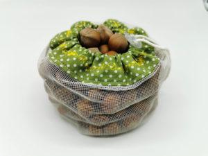 Hálós bevásárló zsák - zöld