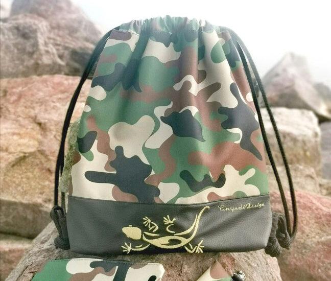 Terep mintás gyíkos hátizsák