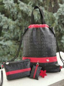 Fekete krokodil hátizsák