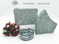 Szürke virágos karácsonyi szett - 9.500 Ft