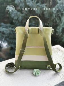 Zöld mintás 2in1 táska No.1