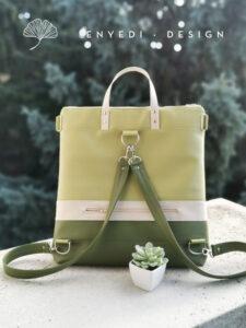 Zöld mintás 2in1 táska No.2
