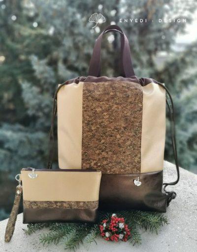 Parafás csillogó hátizsák