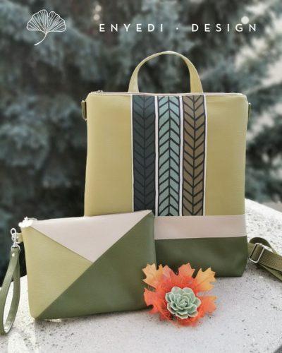 Zöld mintás 2in1 táska