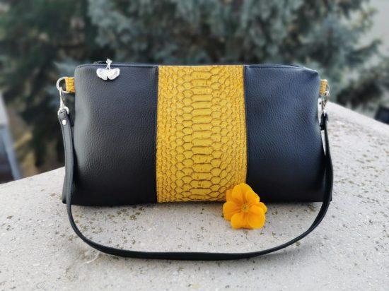 Mustársárga alkalmi táska