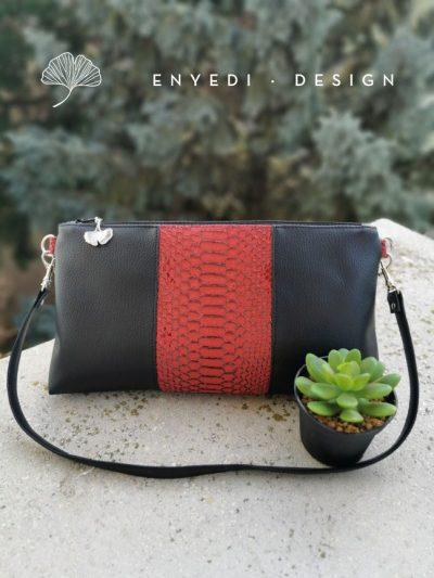 Vörös kígyóbőr alkalmi táska